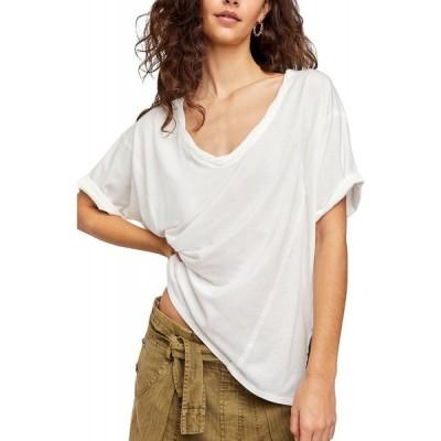 フリーピープル Free People レディース Tシャツ トップス Luna Cotton T-Shirt White