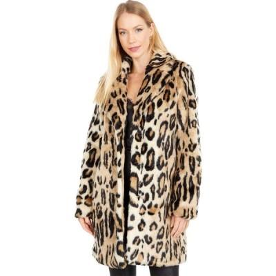 アパリス APPARIS レディース コート ファーコート フード アウター Lana Leopard Faux Fur Coat with Hood Leopard