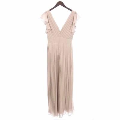 /TFNC LONDON プリーツ ノースリーブ ワンピース ドレス 40B20 サイズ レディース表記なし ピンク系 ランクB 106  (中古)
