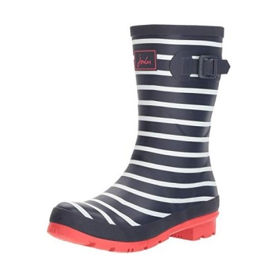 Joules Women's Molly Welly Rain Boot, French Navy Stripe, 7 Medium UK (9 US)【並行輸入品】