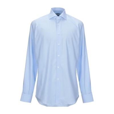 DEL SIENA シャツ スカイブルー 44 コットン 100% シャツ