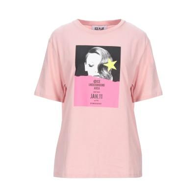 ICE PLAY T シャツ ピンク XS コットン 100% T シャツ