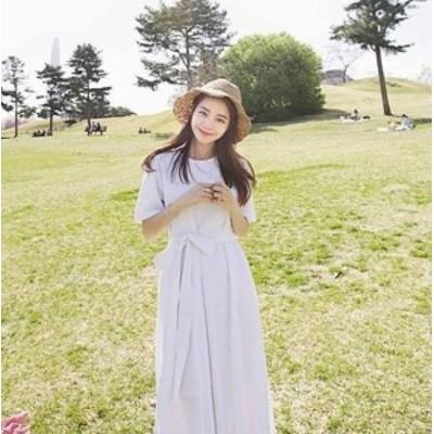 ミモレ丈 ワンピース 大きいサイズ 半袖 春ワンピース 春 韓国 ファッション レディース 韓国 レディース ファッション ワンピース 新作