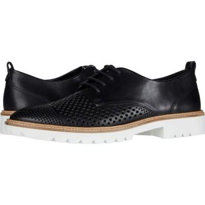 エコー ECCO レディース ローファー・オックスフォード シューズ・靴 Incise Tailored Perf Tie Black Cow Leather