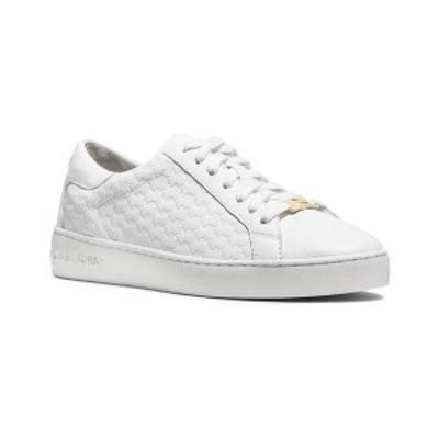 マイケルコース レディース スニーカー シューズ Colby Embossed Signature Logo Sneakers Optic White
