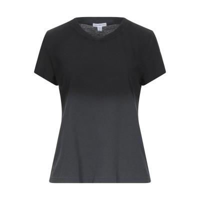 ジェームス・パース JAMES PERSE T シャツ ブラック 1 コットン 100% T シャツ