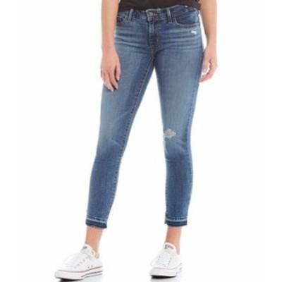 リーバイス レディース デニムパンツ ボトムス Levi'sR 711 Destructed Ankle Skinny Jeans Maui Indigo