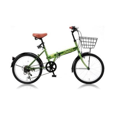 オオトモ 折りたたみ自転車 20インチ シマノ6段変速(カーキ) OTOMO Raychell(レイチェル) FB-206R(31010) 返品種別B