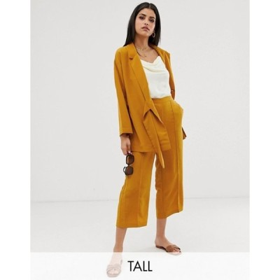 ワイエーエス レディース カジュアルパンツ ボトムス Y.A.S Tall mustard  culottes