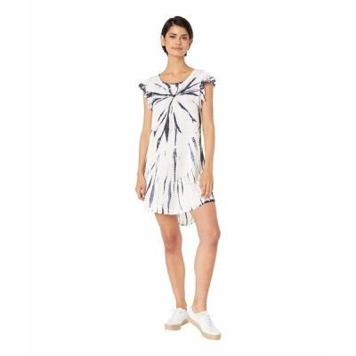 チェイサー ワンピース トップス レディース Silky Flutter Sleeve High-Low Shirttail Dress Tie-Dye