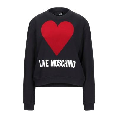 ラブ モスキーノ LOVE MOSCHINO スウェットシャツ ブラック 44 コットン 100% / ポリウレタン スウェットシャツ