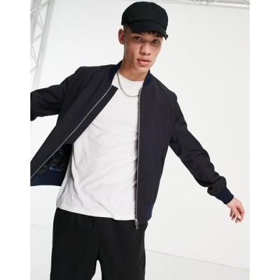 ポールスミス メンズ ジャケット&ブルゾン アウター Paul Smith bomber jacket Navy