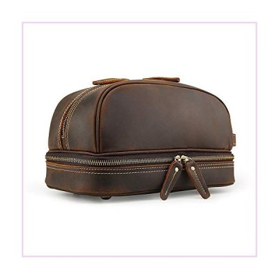 Cosmetic Bags,Leather Organizer Cow Leather Cosmetic Bag for Make Up Bag for Men Women College School Travel■並行輸入品■