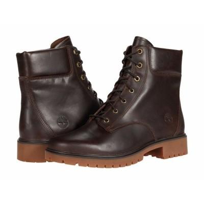 """ティンバーランド ブーツ&レインブーツ シューズ レディース Jayne 6"""" Waterproof Boot Dark Brown Full Grain"""