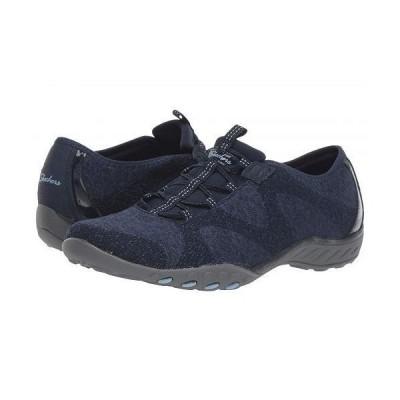 SKECHERS スケッチャーズ レディース 女性用 シューズ 靴 スニーカー 運動靴 Breathe-Easy - Opportuknity - Navy
