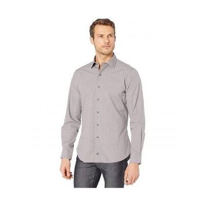 David Donahue メンズ 男性用 ファッション ボタンシャツ Micro Neat Fusion Shirt - Slate