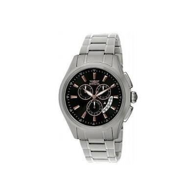 インビクタ 1976 スペシャリティ クロノグラフ ブラック ダイヤル シルバー ブレスレット メンズ 腕時計