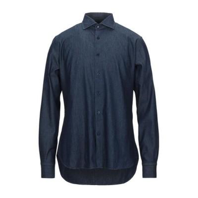 ALESSANDRO BONI デニムシャツ  メンズファッション  トップス  シャツ、カジュアルシャツ  長袖 ブルー