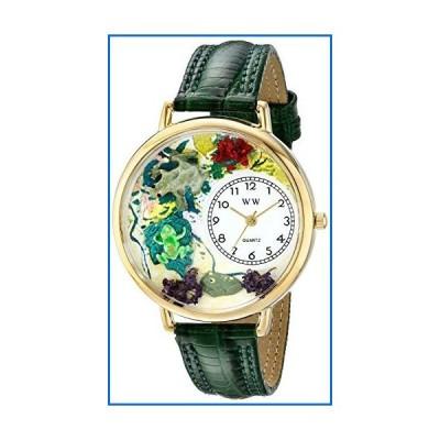蛙 緑レザー ゴールドフレーム 時計 #G0140001[並行輸入品]