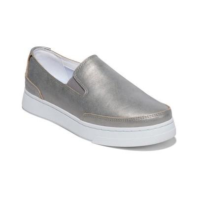 ティンバーランド スニーカー シューズ レディース Women's Atlanta Slip-On Sneakers Medium Grey Metallic