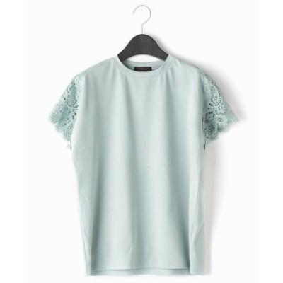 COMME CA/コムサ レースパーツ Tシャツ ミントグリーン 15号