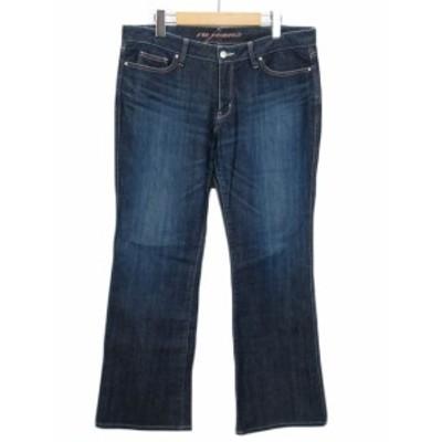 【中古】マルイ アールユー ru jeans パンツ ジーンズ デニム ブーツカット M5 青 ブルー レディース