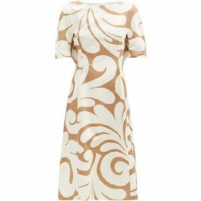 マルニ Marni レディース ワンピース ワンピース・ドレス Swirl-print cotton-blend canvas dress Beige