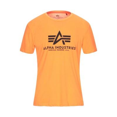 ALPHA INDUSTRIES T シャツ オレンジ S ポリエステル 100% T シャツ