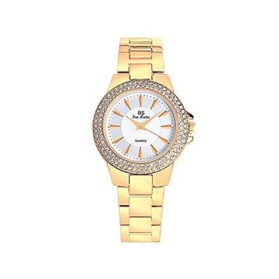 Iced Out Watch Luxury Silver Diamond Crystal Bling Watches for Women Girl L