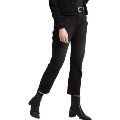 リーバイス カジュアルパンツ ボトムス レディース Levi's Women's 501 High Rise Straight Leg Crop Jeans BlackSprout