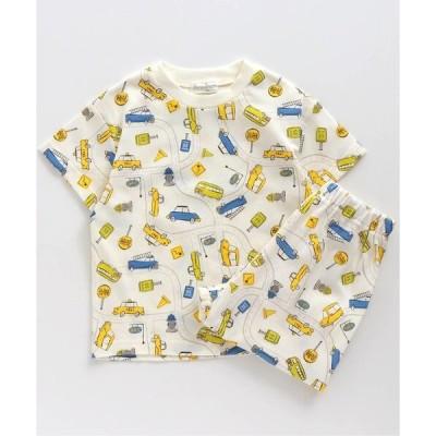 ルームウェア パジャマ BOY総柄かぶりパジャマ(車柄)_ふわ糸