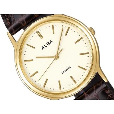 SEIKO ALBA セイコー アルバ スタンダード ペアウオッチ メンズ 腕時計 ベージュ ダークブラウン AIGN004 正規品