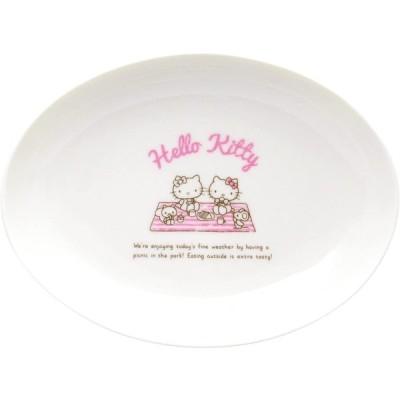 サンリオ(SANRIO) 「 Hello Kitty(ハローキティ) 」 キティ ホリディ ピクニック カレーandパスタ皿 23.5cm 白 309