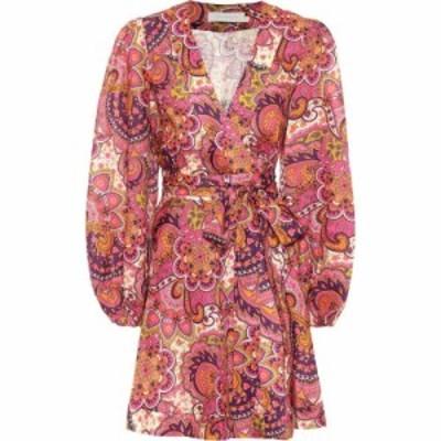 ジマーマン Zimmermann レディース ワンピース ワンピース・ドレス Fiesta paisley linen minidress Pink Paisley