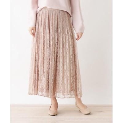 SHOO・LA・RUE/DRESKIP(シューラルー/ドレスキップ) ◆【M-LL】レ-スプリーツスカート