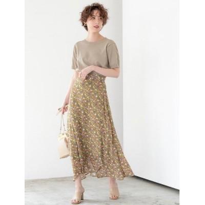 スカート ランダムフラワーカラースカート