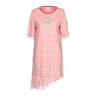 PINKO UNIQUENESS ミニワンピース&ドレス ピンク S コットン 100% / ポリエステル / ナイロン / ドライヤン® / アセ