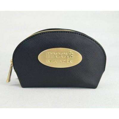 メイシーズ Macy's レディース ポーチ Macy's Crosshatch Small Cosmetic Bag/gold New York Plaque Black