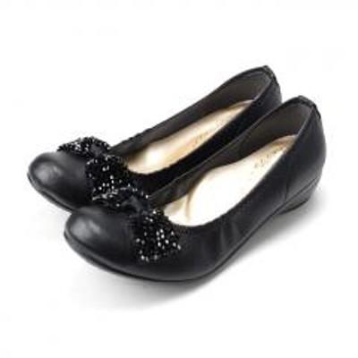 FIRST CONTACT(ファーストコンタクト)FIRST CONTACT ファーストコンタクト 日本製 ラウンドトゥ パンプス ビジューリボン 3.5cmヒール  痛くない 歩きやすい 低反発 39763 レディース 靴