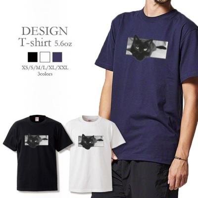 Tシャツ メンズ レディース 半袖 高品質 ネコ 猫 黒猫 飛び出すネコ CAT カワイイ かっこいい クルーネック プリントTシャツ