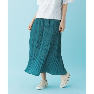 SHOO・LA・RUE/シューラルー 【M-L】マジョリカプリーツスカート グリーン(022) 02(M)