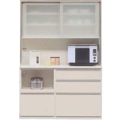 食器棚 レンジボード 140cm幅用 2分割 引戸 高さ179cm カラー50色対応 国産 開梱設置