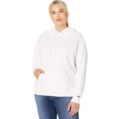 リーバイス Levi's Plus レディース パーカー トップス Graphic Hoodie Sportswear Logo White