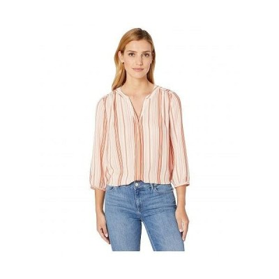 NYDJ エヌワイディージェー レディース 女性用 ファッション ブラウス Blouse w/ Pleated Back - Enchantment Stripe Canyon Clay