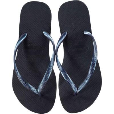 ハワイアナス Havaianas レディース ビーチサンダル シューズ・靴 Slim Flip Flops Navy