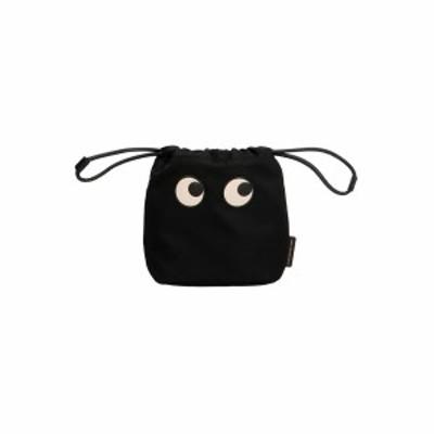 ANYA HINDMARCH/アニヤ ハインドマーチ Black   Drawstrings pouch eyes' clutch レディース 秋冬2021 152983BLACK ju