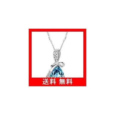 ノーブランド / 大粒 雫(しずく)型 ネックレス / 6colors レディース  (ライトブルー)