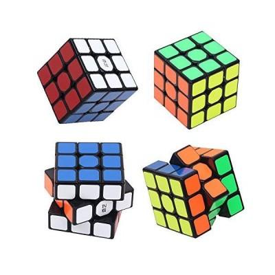 スピードキューブ 簡単回転マジックキューブ 3x3x3 パズルキューブ 教育的な脳の体操ゲーム