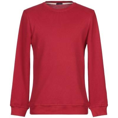 プラスピープル (+) PEOPLE スウェットシャツ レッド L コットン 100% スウェットシャツ