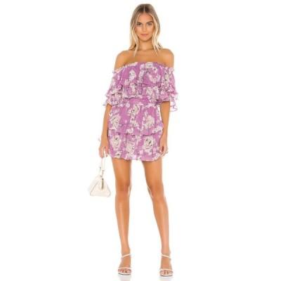 ミサロサンゼルス MISA Los Angeles レディース ワンピース ワンピース・ドレス X REVOLVE Isella Dress Pink Navy Floral